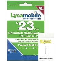 アメリカ・ハワイSIM lycamobile 30日LTE1GB 米国内通話・SMS無制限コミコミパック+YM SIMピンセット (日本語オリジナルマニュアル付)