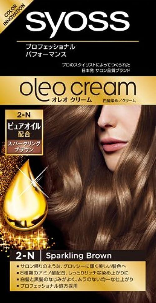 サイオス オレオクリームヘアカラー 2N スパークリングブラウン ピュアオイル配合の新しいヘアカラー×36点セット (4987234361168)