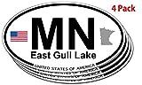 イーストパック East Gull湖、ミネソタ楕円形ステッカー–4パック