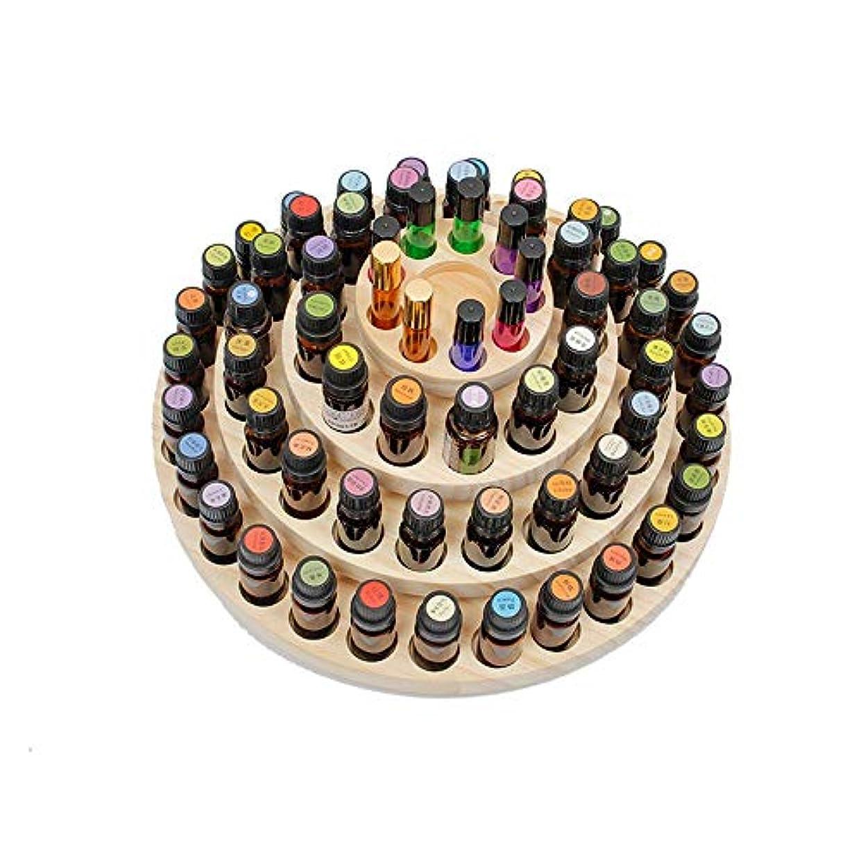 ロケーションチョコレート縫うエッセンシャルオイルストレージボックス 61スロット木製エッセンシャルオイルの収納ボックスは、61油ボトルの油ケースホルダーを保持します 旅行およびプレゼンテーション用 (色 : Natural, サイズ : 36.5X16.8CM)