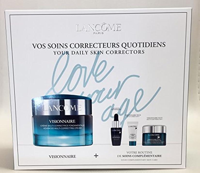 定期的累積キャプションランコム Visionnaire Set: Advanced Multi-Correcting Cream+Nuit Beauty Sleep Perfector+Eye Balm+Genifique Advanced Concentrate 4pcs並行輸入品