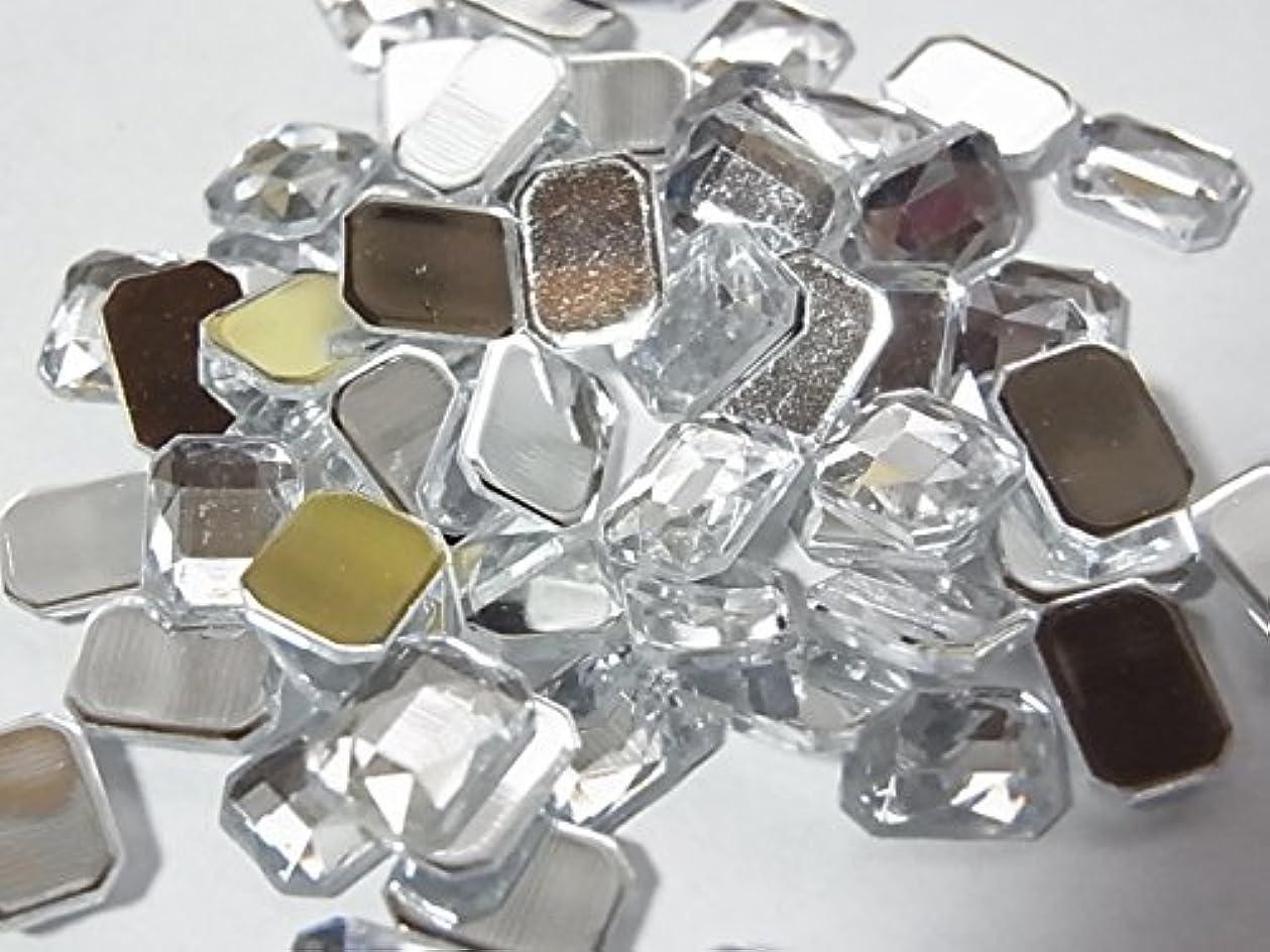 自体化石チャーター変形 アクリルラインストーン ドロップ 7×5mm 約20粒【ラインストーン77】