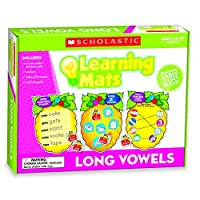 Scholastic TF-7111 Long Vowels Learning Mats Multi (Pack of 71) [並行輸入品]