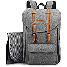 HapTim Travel Baby Diaper Bag Backpack, Large Capacity/Easy Organize/Comfortable/Fashion Newborn Mother Father(Grey 5312)