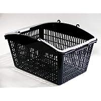 スーパーメイト 16L ショッピングバスケット ブラック×ホワイト 10個セット (1134011000200)