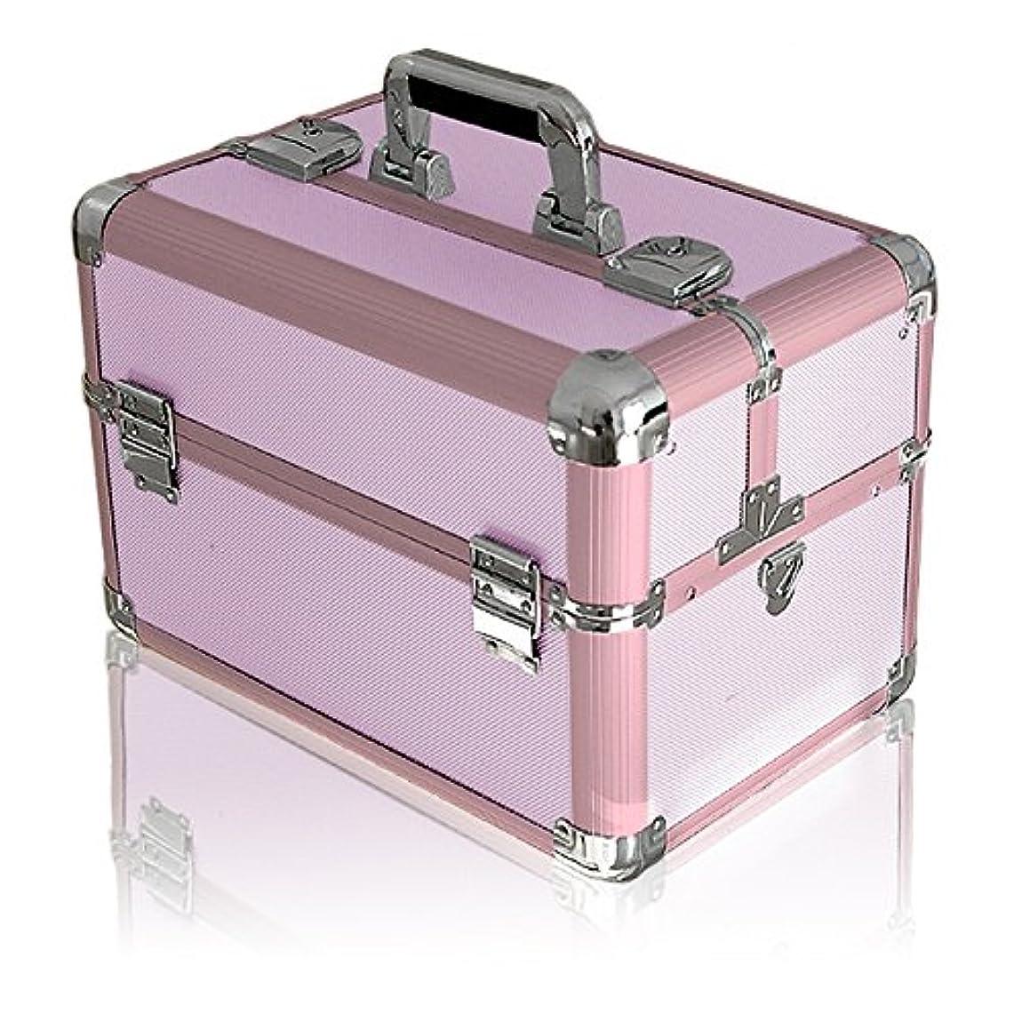 揮発性フェローシップ魅力的であることへのアピールottostyle.jp メイクボックス コスメボックス Lサイズ 【ピンク】 37×24.5×27.5cm 観音開き アルミ プロ仕様 鍵付き ツールボックス 工具箱