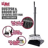 LIAO Dustpan & Broom Set with Swivel Dust Pan (32L x 2W x 91H)