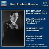ラフマニノフ:ピアノ協奏曲第3番 リスト:「パガニーニによる超絶技巧練習曲集」 他(ホロヴィッツ)(1930)
