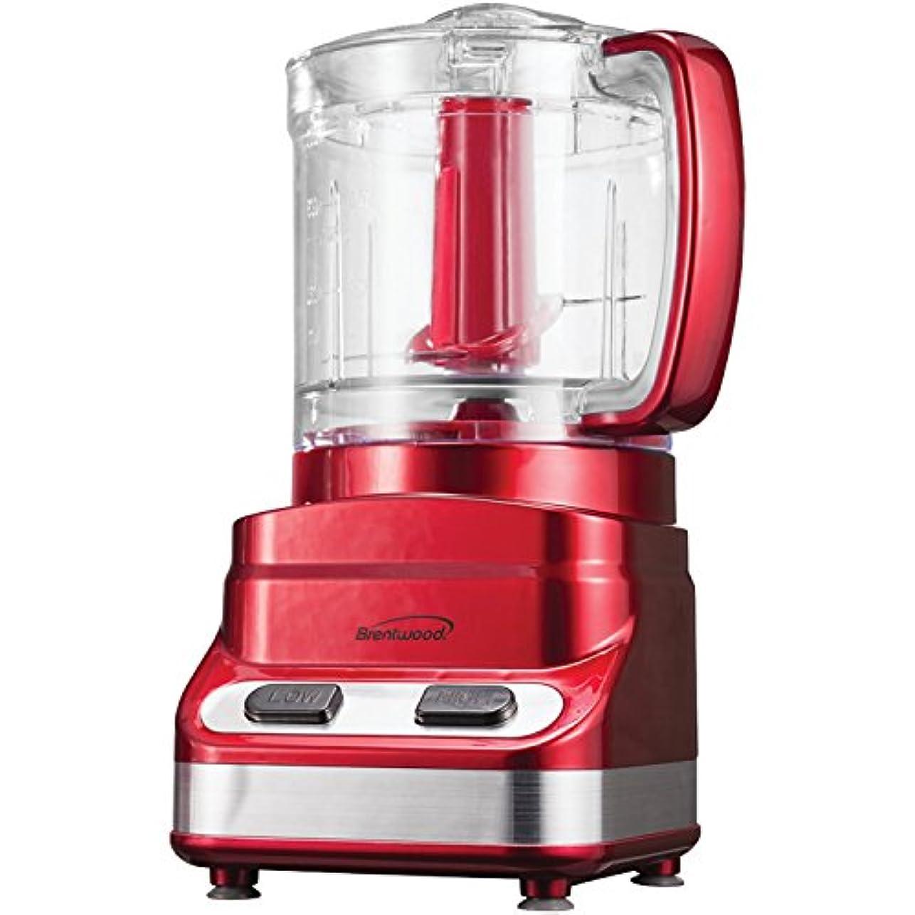 ハード側ワードローブBrentwood FP-548 3-Cup Tone Color Food Processor, Red by Brentwood