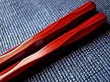 業務用エコ箸 六角一刀彫 溜塗り 22.5cm 10膳入り