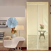 フルフレーム velcro 蚊磁気スクリーン ドア ホーム画面ドア メッシュ夏重い義務メッシュ スクリーン スナップが自動的にシャット ダウン-B 80x205cm(31x81inch)
