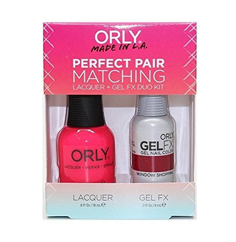 きらめく間違っている機械Orly - Perfect Pair Matching Lacquer+Gel FX Kit - Window Shopping - 0.6 oz / 0.3 oz