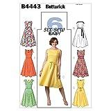 【Butterick】EASY 6種類のデザインワンピースの型紙セット サイズ:U8-10-12-14 *4443