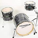 CANOPUS/R.F.M. Series Black Oyster 18インチBD 3点セット カノウプス メイプル ブラックオイスター ドラムセット