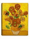 DecoArts アートパネル 印象派油絵 壁掛け絵画 壁飾り フィンセント・ファン・ゴッホの絵画作品 (40cm x 50cm, Sunflowers ひまわり(15本のひまわり))