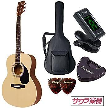 HONEY BEE ハニービー アコースティックギター フォークギタータイプ F-15M/N マットフィニッシュモデル 初心者入門チューナーピックセット
