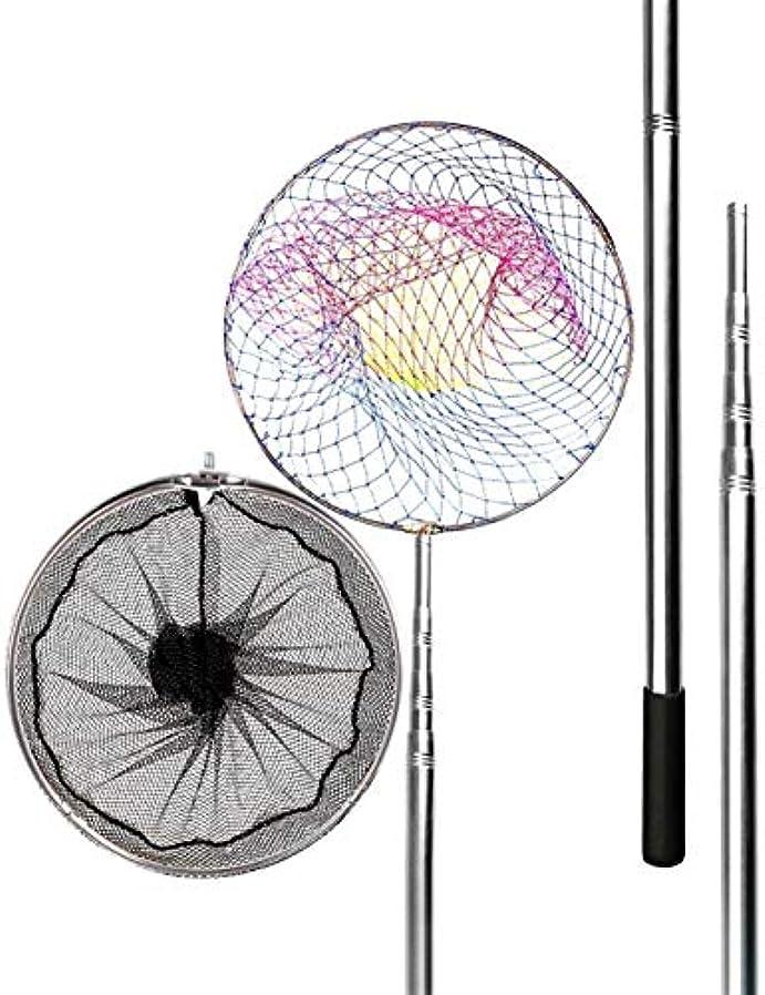放散するはい助けになる釣りランディングネットの折りたたみ、伸縮釣りネット、軽量でポータブル合金フレーム、4M長距離釣り、ネットをキャッチ魚、大型魚のネット (Size : C 2.5M/98.43in)