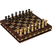 Deco 79 Poly-Stone Chess Set, 10 by 3-Inch [並行輸入品]