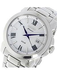 セイコー プルミエ Premier ソーラー クオーツ メンズ 腕時計 SNE453P1 ホワイト [並行輸入品]