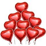 アルミ風船 ハートバルーン 45cm ホイルヘリウム気球 赤い 心 バレンタインデー 結婚式 婚約の装飾 誕生日 風船(10 PK)