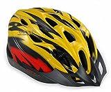 【ノーブランド品】クールスタイル! 超軽量 高剛性! 自転車用 サイクリング ヘルメット (イエロー&レッド)