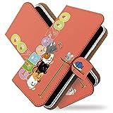 AQUOS PHONE Xx 106SH ケース 手帳型 猫 ネズミ サーモン 猫 ねこ 魚 手帳 カバー アクオスフォン AQUOSPHONEXxケース AQUOSPHONEXxカバー 手帳型ケース 手帳型カバー ねこ柄 キャット [猫 ネズミ サーモン/t0077]
