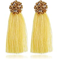 Womens Tassel Earrings with Floral Top