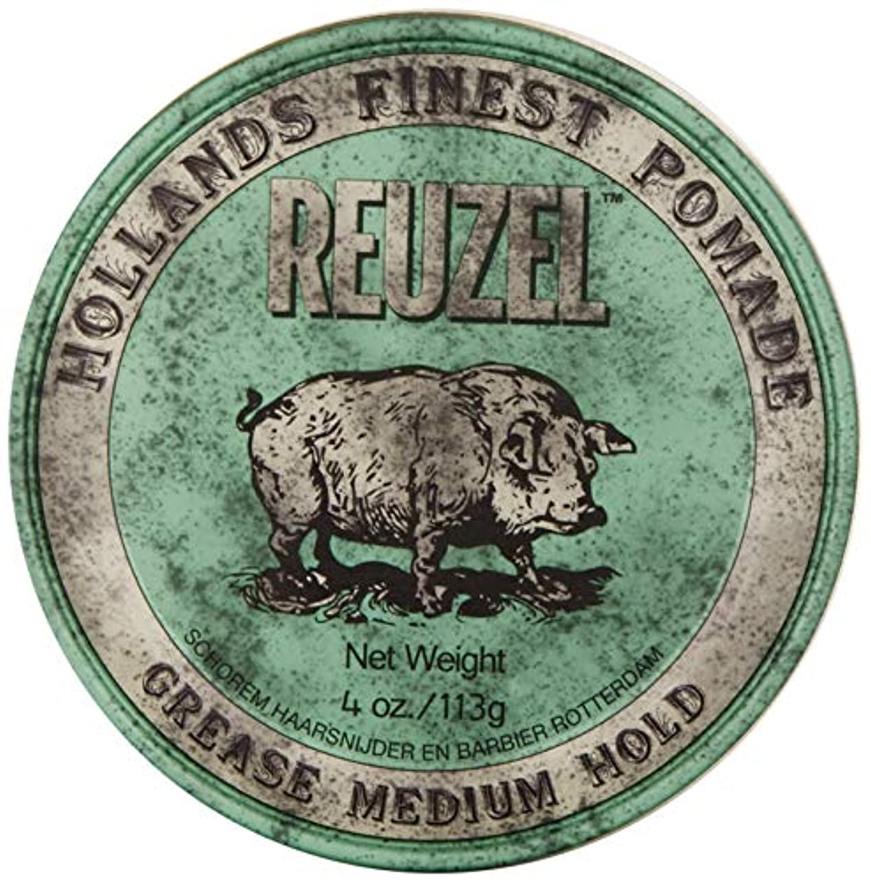 保護ロシア咲くReuzel Medium Green Grease Hold Pomade by Reuzel