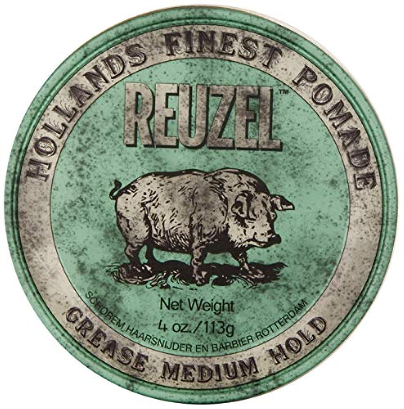 蒸発規模速記Reuzel Medium Green Grease Hold Pomade by Reuzel