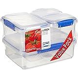 Sistema Klip It 6 Pack Food Storage Container, Clear