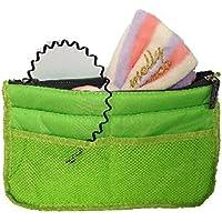 ポーチ バッグインバッグ 旅行 用 大きいリボンの ヘアーバンド と ウェーブカチューシャ 3点セット (グリーン)