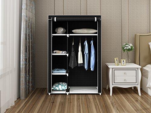 Home-Like ワードローブ 衣類収納カバー付きハンガー クローゼット 幅105×奥行45×高さ158cm