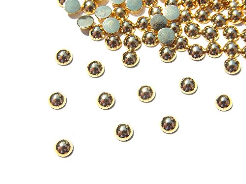 【jewel】ゴールド メタルパーツ ラウンド (丸) Lサイズ10個入り 3mm 手芸 材料 レジン ネイルアート パーツ 素材