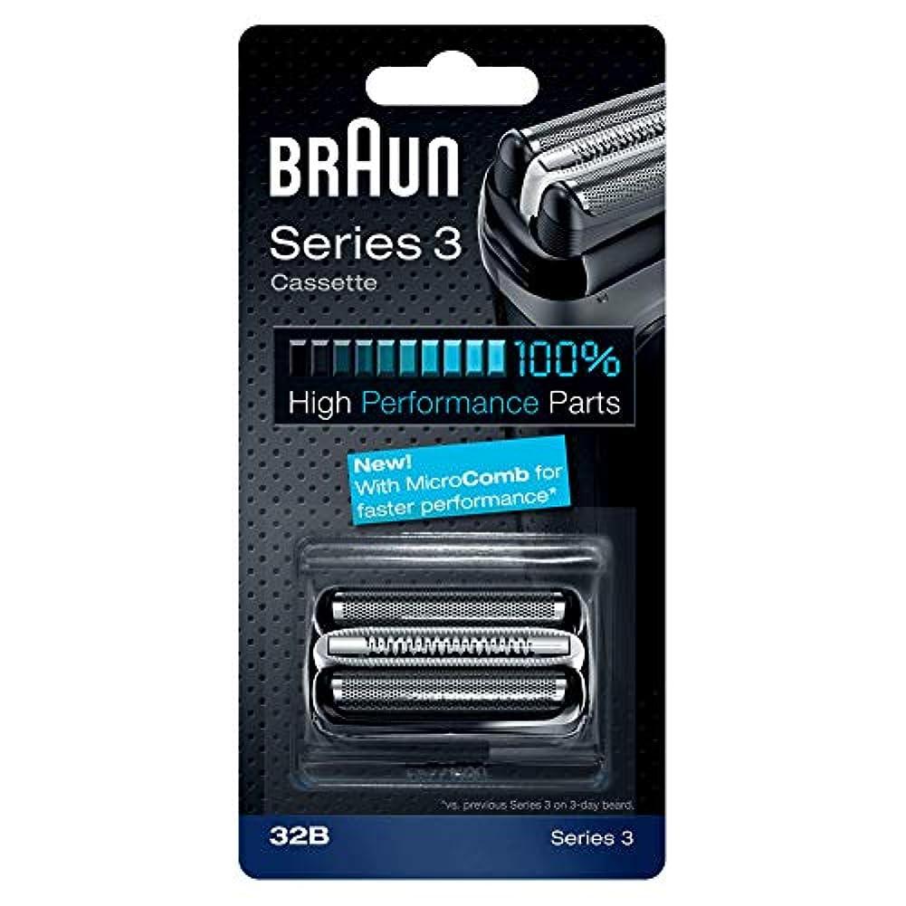完全にアレイ言語学BRAUN 32B Series 3 Shaver Cassette MicroComb交換ヘッドをフォイルカッター& [並行輸入品]