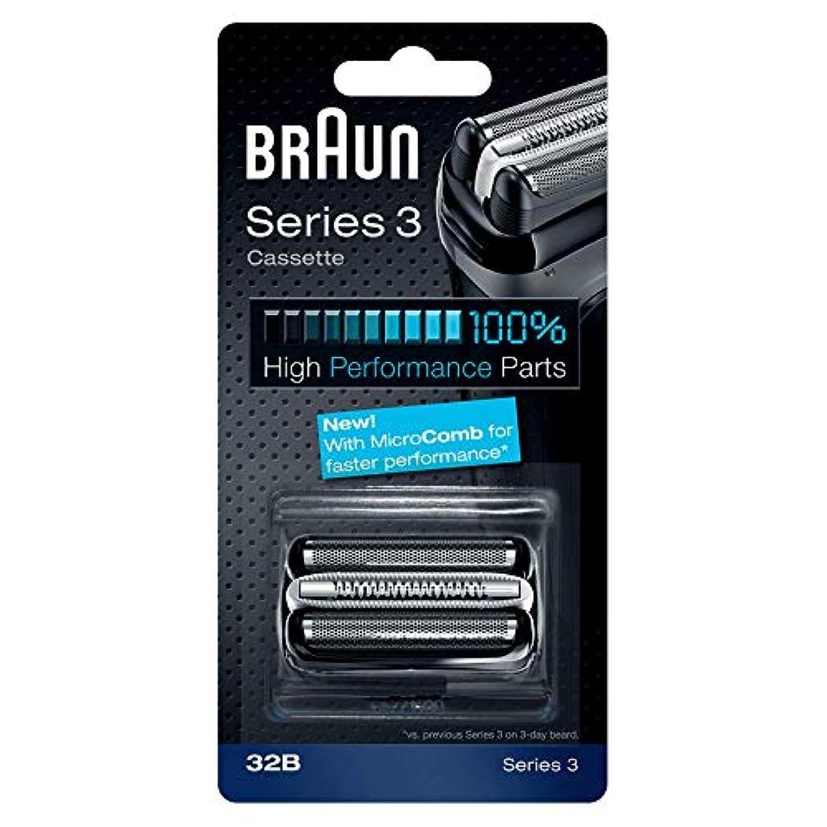 請負業者さまよう補助BRAUN 32B Series 3 Shaver Cassette MicroComb交換ヘッドをフォイルカッター& [並行輸入品]
