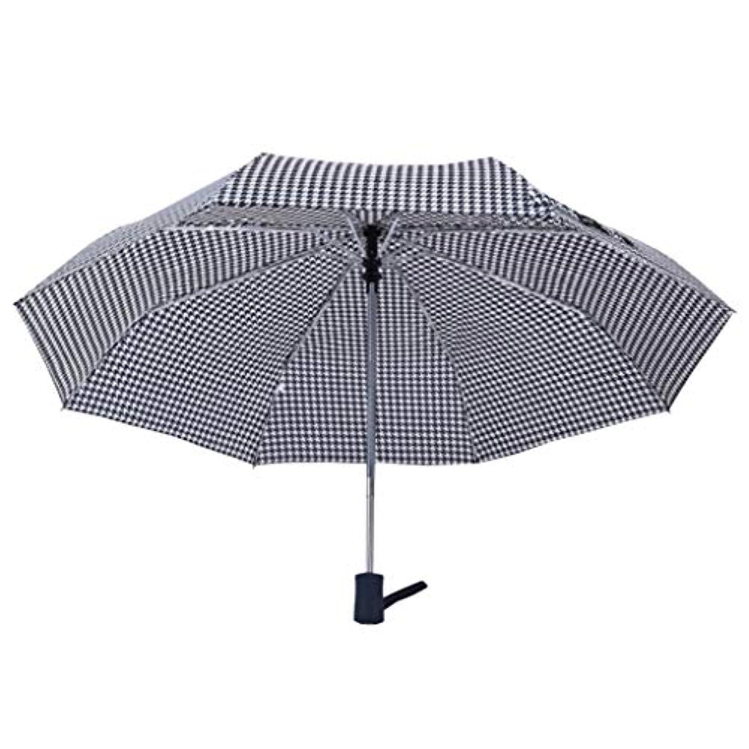 一瞬別々に鍔傘、ファッショナブルな格子、アルミ傘の骨、大人の屋外レジャー、日当たりの良い傘、便利な70パーセントの自動傘。