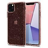 【Spigen】 スマホケース iPhone 11 Pro ケース 5.8インチ 対応 TPU クリア 薄型 軽量 傷防止 カメラ保護 Qi充電 ワイヤレス充電 リキッド・クリスタル グリッター 077CS27230 (ローズ・クォーツ)