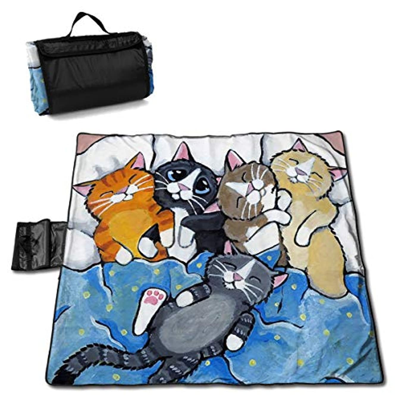 購入無駄にスクレーパーQQ LOVE 招き猫 レジャーシート ピクニックシート 厚手 レジャーマット 折り畳み 150*145 Cm