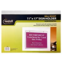 (43cm x 28cm) - 43cm x 28cm Horizontal Wall Mount Sign Holder, Clear