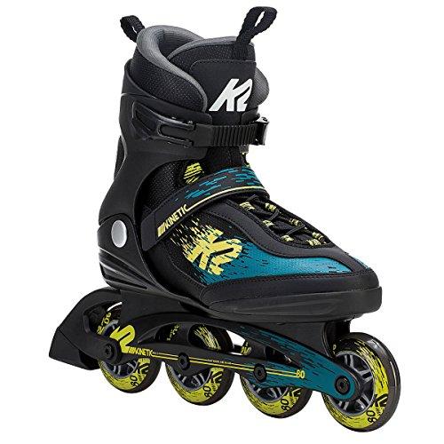 K2(ケーツー) インラインスケート 2018 KINETIC 80 Mens Black-Green-Yellow 男性用 I180201901 日本正規品 保証書あり