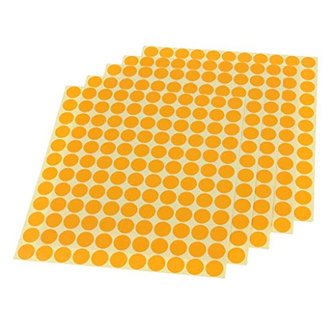 ゲージメイト実用的5個入り ラベルシート エッセンシャルオイル ボトル 貼り付け ステッカー 自己接着ラベル 防水耐油 - オレンジ