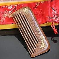 MXIKUCCY サンダルウッドヘアコブ - 様々なスタイリストハウスデンシズ歯ブラシヘビースタイリングヘアーブラシ、ギフトボックス付き (Design : D)