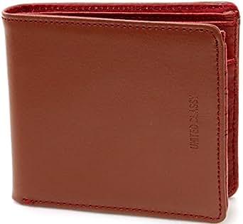 (マルカワジーンズパワージーンズバリュー) Marukawa JEANS POWER JEANS VALUE 財布 メンズ 二つ折り 本革 牛革 ステッチ 2color Free ブラウン