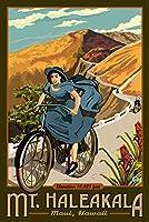 ハワイ–マウントハレアカラ自転車 16 x 24 Giclee Print LANT-12155-16x24