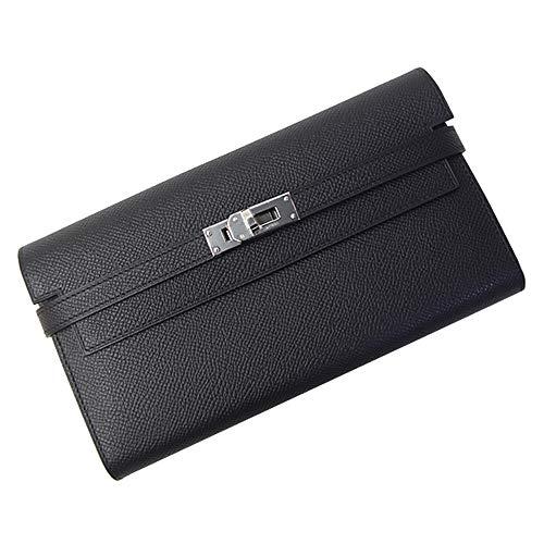 エルメス HERMES 長財布 051300CK ブラック レディース メンズ ケリーウォレット ヴォーエプソン 二つ折り財布 [並行輸入品]