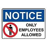Best 従業員のシャツ - OSHA Notice従業員だけAllowedホワイトメタルサインアルミSigns 6x 9インチ Review