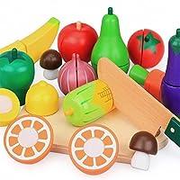 Babyhugs木製の果物と野菜15ピース玩具プレイセット