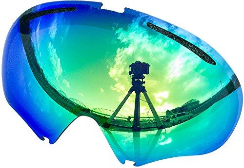 オークリー A FRAME2.0 ゴーグル用交換レンズ GREEN MIRROR