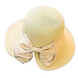 (ラグロージー)LuxRosy* レディース ペーパーハット 日よけ 帽子 日焼け 対策 にも 調節紐 付 ビック リボン NT CR