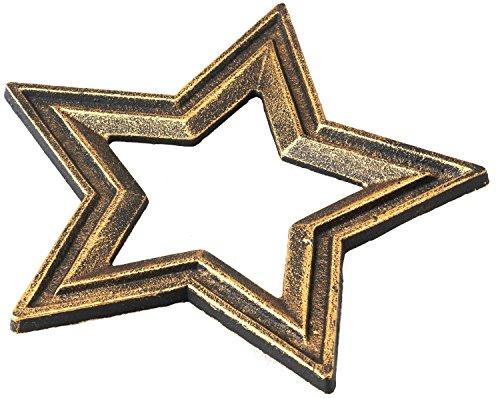 RoomClip商品情報 - トスダイス 鍋敷き CASTIRON STAR TRIVET アンティークゴールド TDST09-6757GO